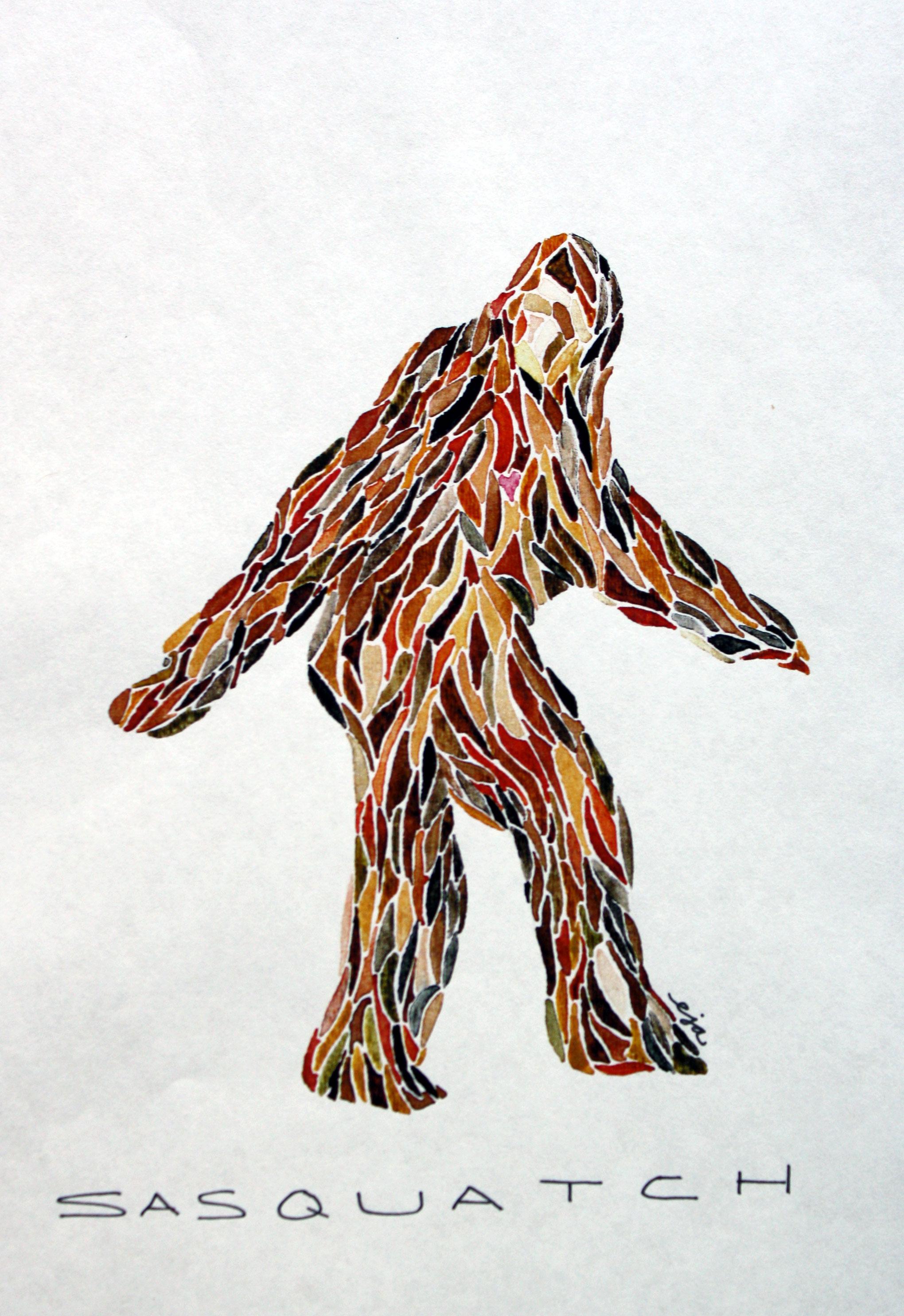 bigfoot outline - photo #23